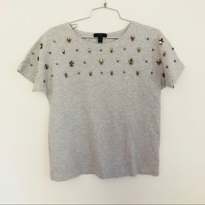 J Crew jeweled dolman top